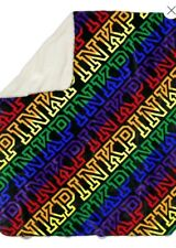 Victoria's Secret PINK Rainbow LOGO Sherpa Blanket 60 x 72 - New With Tags