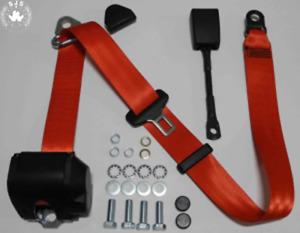 Dreipunkt Automatic Seat Belt for Renault Super5, R11, R14, R25, Clio, Red, 22cm