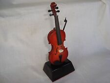 "6"" VIOLIN Miniature on Stand Much Detail Great Music Gift Brand NEW"