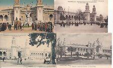 Lot 4 cartes postales anciennes MARSEILLE EXPO COLONIALE grand palais
