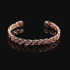 Women Men Copper Magnetic Bracelet Therapy Arthritis Pain Healing Cuff Bangle C2