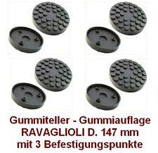 Gummiteller für Hebebühne RAV D. 147 mm mit 3 Befestigungspunkte -Gummiauflagen-