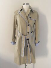 NEW JCREW FOR NET-A-PORTER TRENCH COAT WITH STRIPED PIPING F6685 SZ 0 SOLD-OUT!