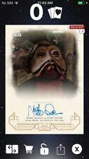 Topps Star Wars Digital Card Trader Galactic Heritage ROTJ Nien Nunb Signature