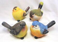 """Finch Hand Painted 5"""" Resin Birds Assortment of 4 Yard & Garden Decor"""