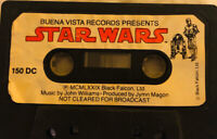 Buena Vista Children's Vintage Cassette Tape Star Wars movie Story