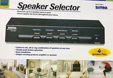 Sima - SSW-4 - 4-Pair Speaker Selector - Black