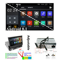 "7"" Single 1 Din Car Stereo Radio Android 8.1 2G+16G BT WiFi GPS Mirror Link OBD"
