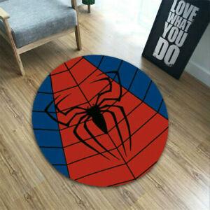 Marvel Superhero Floor Mat Spiderman Home Non-Slip Pad Bedroom Rug Carpet Decor