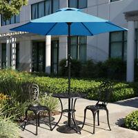 6.5' 7.5' 9' Outdoor Patio Umbrella Market Table Yard Garden w/ Crank Tilt Shade