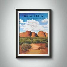 More details for uluru kata tjuta national park travel poster - framed - bucket list prints