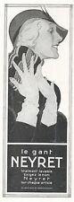 ▬► Publicité French Print advertising - Gant Gloves - NEYRET - René Vincent 1931