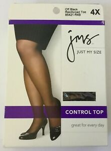 Just My Size Taupe Control Top Pantyhose Size 2X