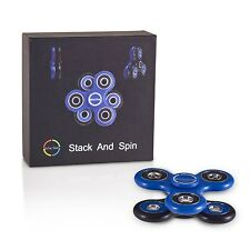"*BUNDLE* 50 DUAL SPINNERS, Envolve ""STACK AND SPIN"" Spinner (Blue/Black)"