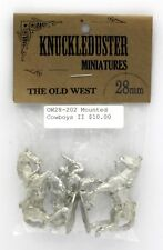 Knuckleduster OW28-202 Mounted Cowboys II [Special Weapons] (Old West) MIniature