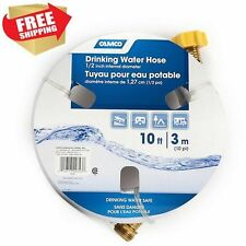 """Heavy Duty Fresh Water Hose Camco 10 Foot for RV Drinking Camper Boat Fill 1/2"""""""