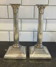 Pair of Superb Antique Large Silver Plated Ancanthus Corinthian Candlesticks
