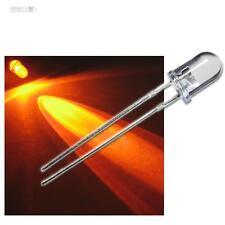 50 LEDs 5mm orange wasserklar + Widerstände & Schrumpfschlauch, LED oranje amber