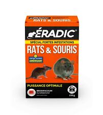 RATICIDE SOURICIDE SPECIAL FORTES INFESTATIONS RATS SOURIS PATE Au BRODIFACOUM