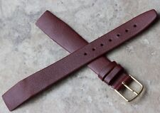 Rich oxblood color 16mm Genuine Calf open-ended vintage watch strap old stock