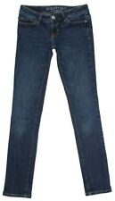 Aeropostale Skinny Junior Womens Jeans Size 00 Reg 25x30 Low Rise Stretch Denim
