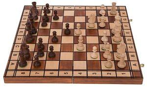 SQUARE - Schach - JUPITER - 40 x 40 cm - Schachbrett und Schachfiguren aus Holz