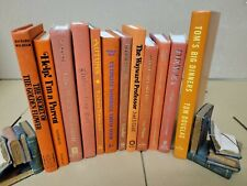 Lot of 6 Hardcover ORANGE SALMON Shades Mix Books for Staging Prop Decor Modern