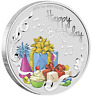 2019 Australia Happy Birthday 1oz $1 Silver dollar Coin Colorized