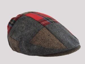 P FLAT CAP,CLOTH CAP,GOLF CAP WINDSOR FLAT CAP FARMER,CABBIE HAT Patchwork