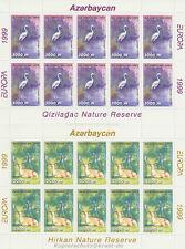 EUROPA CEPT 1999 NATUR PARKS - ASERBAIDSCHAN AZERBAIJAN 442-43 KLEINBOGEN **
