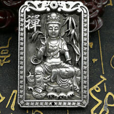 Old Collect Ancient Tibet Silver Exquisite Bamboo Kwan-yin Waist tag Decoration