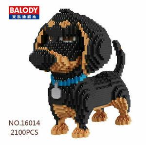 Bausteine Dackel-Hund Mini Modell Spielzeug Geschenk Dekoration Figur Toys Boxed