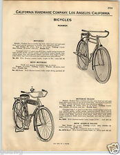 1932 PAPER AD Roamer Brand Bicycle Motobike Deluxe Tank Horn Light Luggage Rack