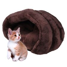 Pet Dog House Kennel Soft Igloo Beds Cat Cave Puppy Bed Warm Cushion Fluffy AU
