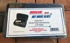 """New Sealed Hurricane Harps, """"Hot House Blues"""" Case for 7 Blues Harp -10 Hole"""