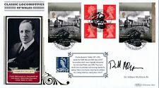 Benham 2014 Classic Locomotives of Wales FDC signed by Sir William McAlpine