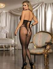 Women Sexy Lingerie Bodystocking Bodysuit Catsuit Chemise Fishnet Crotchless UK