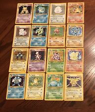 Pokemon Cards TCG Base Set COMPLETE 102/102 WOTC 1999 - Includes All Holographic