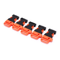 5pcs Survival Whistle Buckle Plastic Buckles For Paracord Bracelet/ Backpack _ws