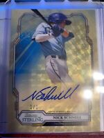 2019 Bowman Sterling Nick Schnell SUPERFRACTOR AUTO #'ed 1/1 Tampa Bay Rays