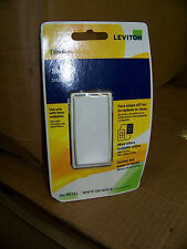Leviton Renu Switch 15A 120/277 V AC White on White Single Pole # RE151 New