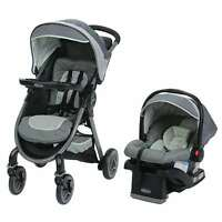 Graco FastAction Fold 2.0 Stroller SnugRide Car Seat Travel System (Open Box)
