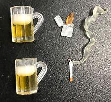 FIG-CLBB: 1/12 Cigarette, Lighter, Beer Mug x 2 for DC Multiverse, NECA, WWE