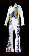 Da NeeNa Elvis Presley Inspired Singer The King Peacock Belt Jumpsuit Costume