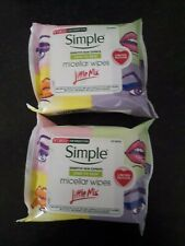 Simple Kind To Skin Limited Edition Little Mix Micellar Wipes 25 Pack(X2)