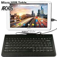 Micro USB Leather Wired Keyboard Plug and play For ARCHOS 97 101 116 121 Tablet