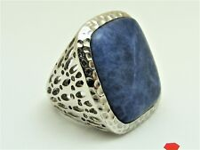 Sterling Silver Sodalite Ornate Signed RING Size: 7 Open Work LUC Lucas Lameth