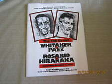 10/5 1991 Whitaker vs Paez, Rosario vs Hiranaka Boxing championship Program nm