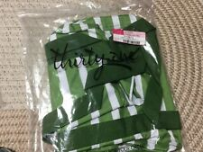 Thirty One SMALL Utility Tote - GREEN CABANA STRIPE PATTERN