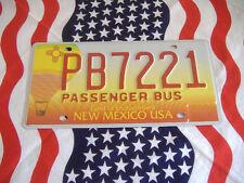 US NEW MEXICO PB BUS 221 Auto Car Plate KENNZEICHEN NUMMERNSCHILD Schild of USA